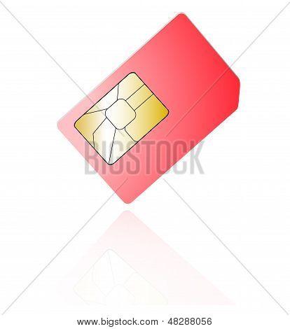 Cartões Sim isolados no fundo branco