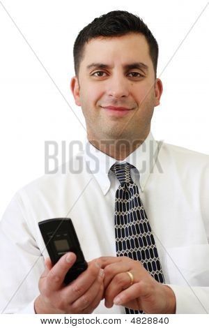 Businessman Holding His Cellphone