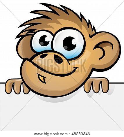 Monkey Cartoon With Background