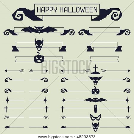 Halloween collection of design elements.