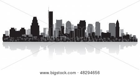 Boston City Skyline Silhouette