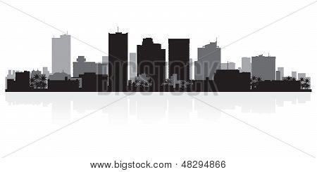 Phoenix City Skyline Silhouette