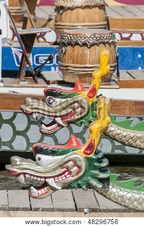 Cabeças de barco dragão