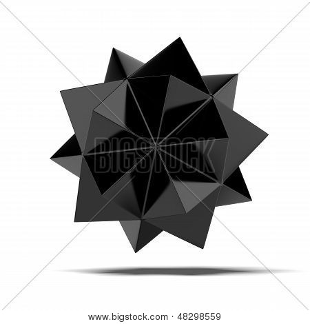 Abstract black shape
