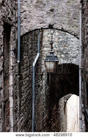 Antique lantern in Sisteron. Provence, France