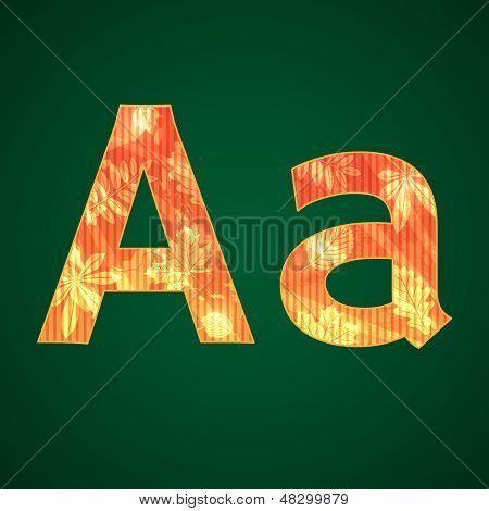 Letters A in the autumn style
