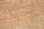 picture of hieroglyph  - Hieroglyphs on a wall - JPG