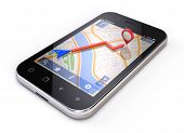 stock photo of gps navigation  - Mobile gps concept  - JPG