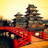 image of yellow castle  - Matsumoto Castle - JPG