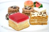 foto of sweet food  - various sweets on a plate - JPG