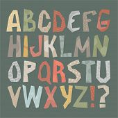 Vector set - funky alphabet