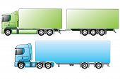 picture of 18 wheeler  - European trucks with different trailer types and colors - JPG