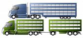 pic of 18 wheeler  - Trucks with various animal transportation trailer types - JPG