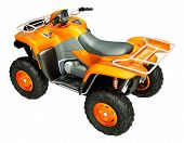 foto of four-wheeler  - Sports quad bike isolated on a light background - JPG