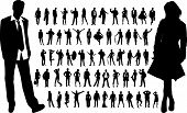 picture of person silhouette  - Large collection of people silhouettes - JPG