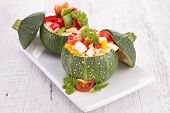 round zucchini with vegetables