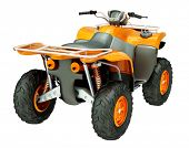 pic of four-wheeler  - Sports quad bike isolated on a light background - JPG