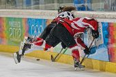 INNSBRUCK, AUSTRIA - JANUARY 20 Anna Fiegert (Germany) and Paulina Polczik (Austria) fight for the p