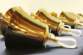 Handbells ready to play