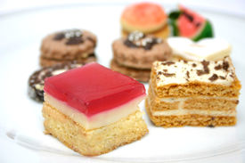 image of sweet food  - various sweets on a plate - JPG