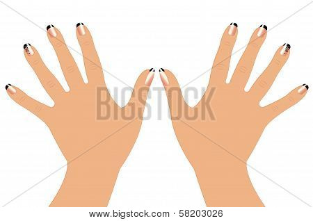 Woman hands with fasion nails