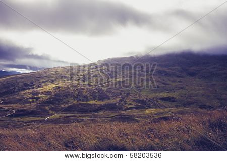 Spectacular Scottish Mountain Landscape