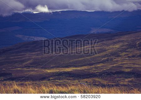 Mountain Landscape Near Ben Lawers, Scotland