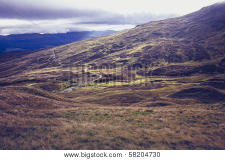 Beautiful Mountain Landscape In Scotland