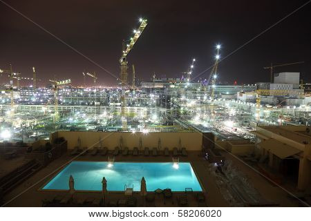 Construction Site In The City Of Doha