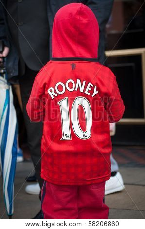 Young Manchester United Fan Wears the Name of Wayne Rooney