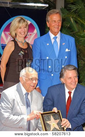 Debby Boone and Pat Boone with Johnny Grant and Mike Curb at the Ceremony honoring Mike Curb with a star on the Hollywood Walk of Fame. Vine St, Hollywood, CA. 06-29-07