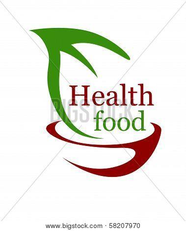 Health vegetarian food icon