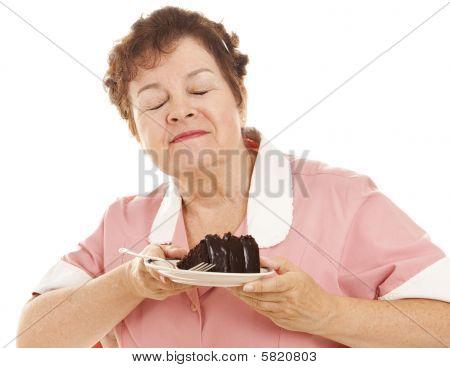 Waitress Loves Chocolate Cake