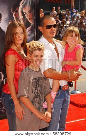 Antonio Sabato Jr. and family at the premiere of