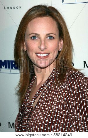 Marlee Matlin at the celebration for the Oscar nominated films