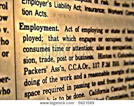 Dictionary Employment
