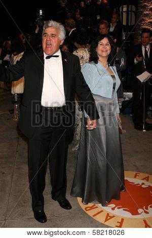 Jay Leno and wife Mavis at the 2007 Vanity Fair Oscar Party. Mortons, West Hollywood, CA. 02-25-07