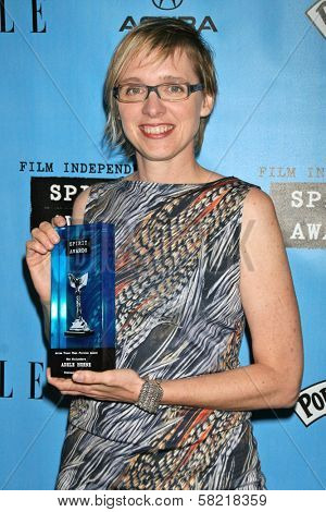 Adele Horne in the Press Room at the 2007 Film Independent's Spirit Awards. Santa Monica Pier, Santa Monica, CA. 02-24-07