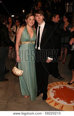 Paul Dano and guest at the 2007 Vanity Fair Oscar Party. Mortons, West Hollywood, CA. 02-25-07