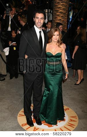 Sacha Baron Cohen and Isla Fisher at the 2007 Vanity Fair Oscar Party. Mortons, West Hollywood, CA. 02-25-07