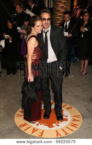 Robert Downey Jr. and wife Susan at the 2007 Vanity Fair Oscar Party. Mortons, West Hollywood, CA. 02-25-07