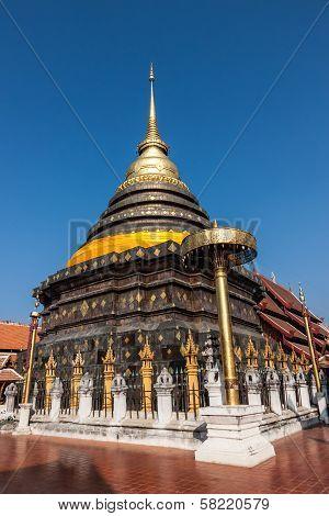 Pagoda Wat Phrathat Lampang Luang, In Country Of Thailand