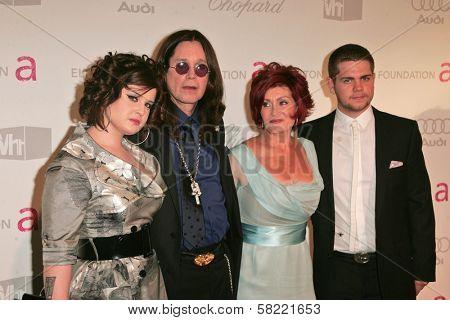 Kelly Osbourne, Ozzy Osbourne, Sharon Osbourne and Jack Osbourne