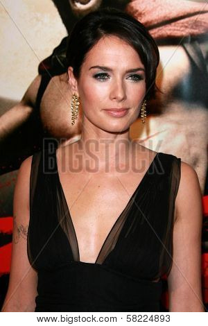Lena Headey at the Los Angeles premiere of