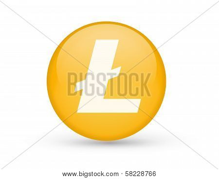Litecoin button symbol