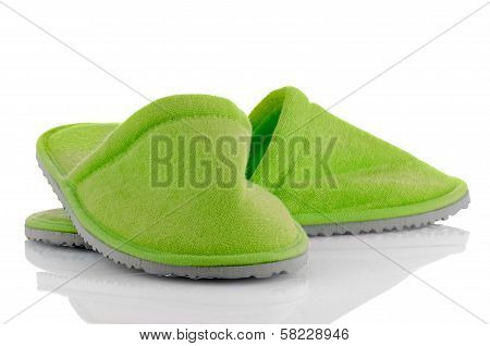 A Pair Of Green Slippers