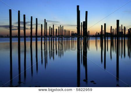 Biscayne bay docking poles