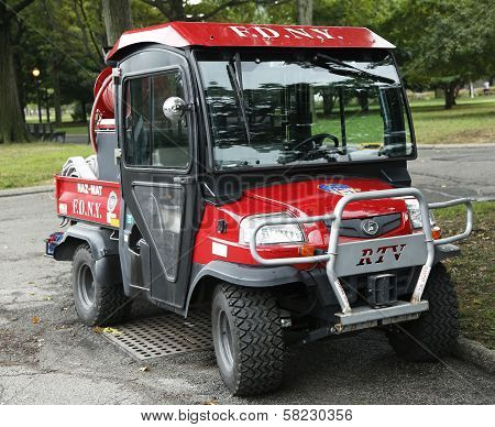 FDNY Haz-Mat Kubota RTV Utility Vehicle near National Tennis Center in New York