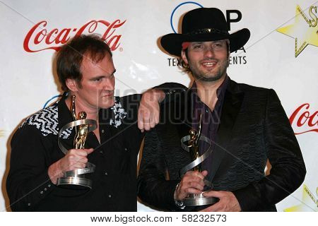 Quentin Tarantino and Robert Rodriguez at the ShoWest 2007 Awards Ceremony. Paris Hotel, Las Vegas, NV. 03-15-07