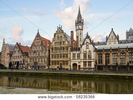 Graslei embankment , Ghent